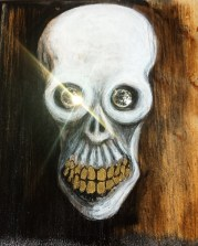 Death Bling, KJagoe 2018, mixed media on wood